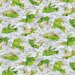 FABRI-QUILT, INC - Frolicking Fields - Frogs - Grey