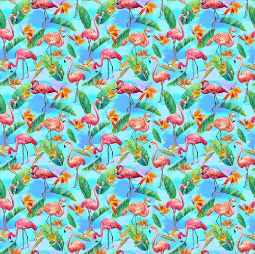 PAINTBRUSH STUDIO - Fabulous Flamingos - Flamingos Aqua