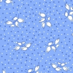 PAINTBRUSH STUDIO - Vintage 30s Flowers - White/Blue