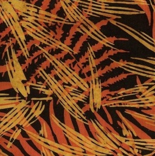 ISLAND BATIK - Batik - Orange Palms - K1478-