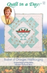 Basket of Oranges Wallhanging: Eleanor Signature Quilt Pattern