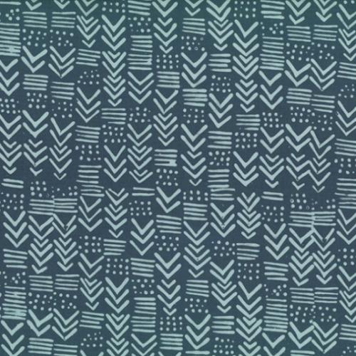 HOFFMAN - Hand Dyed Batiks - Painted Geo Pewter - K65019-