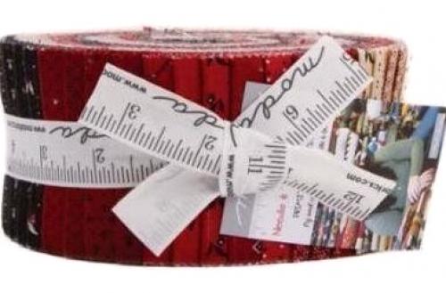 Needle Thread Gath Jelly Roll by Primitive Gatherings Moda Precuts