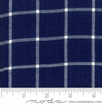 MODA FABRICS - Bonnie Camille Wovens - Windowpane - Navy