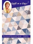 Thousand Pyramids Quilt:  Blue Cover