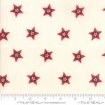 Skinny - SK1085- 1 1/4 yds - MODA FABRICS - Stars & Stripes Gathering - Cream/Red Star