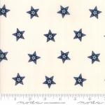 Skinny - SK1086- 1 1/4 yds - MODA FABRICS - Stars & Stripes Gathering - Cream /Navy Star