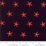MODA FABRICS - Stars &Stripes Gathering - Black/Red Star