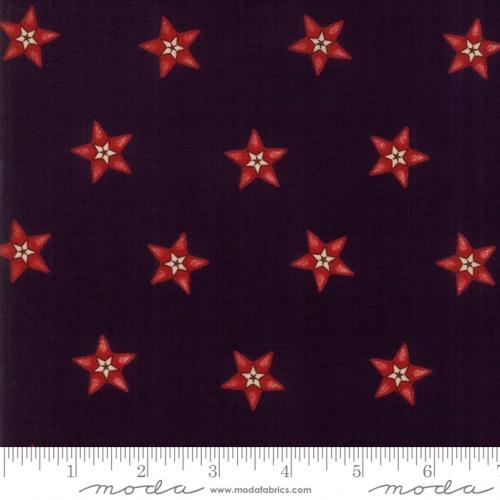 Skinny - SK2117- 1 yd - MODA FABRICS - Stars &Stripes Gathering - Black/Red Star