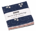 Stars & Stripe Gatherings Mini Charm Pack Moda Precuts