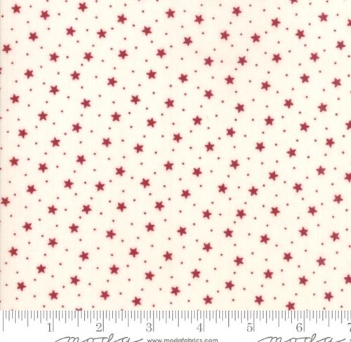 MODA FABRICS - Stars & Stripes Gathering - Cream Small Stars