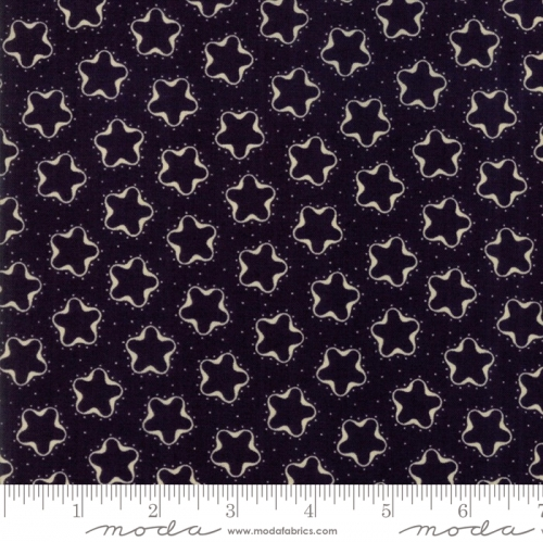 MODA FABRICS - Stars & Stripes Gathering - Navy Silhouette Stars