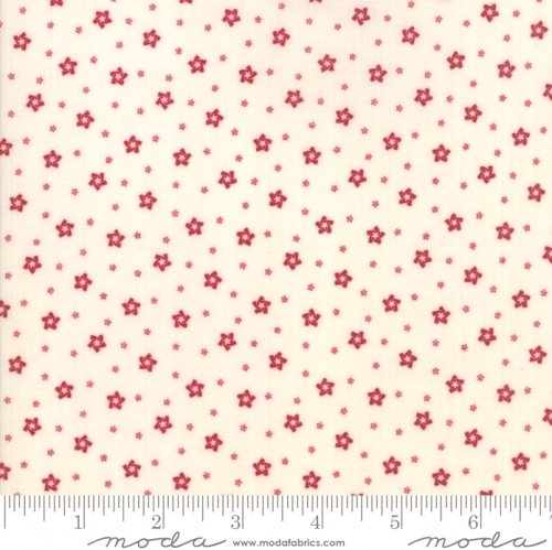 MODA FABRICS - Stars & Stripes Gathering - Cream Stars And Polka Dots