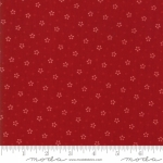 MODA FABRICS - Stars & Stripes Gathering - Red Stars and Polka Dots