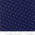MODA FABRICS - Stars & Stripes Gathering - Navy Stars and Polka Dots