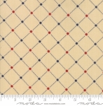 MODA FABRICS - Stars & Stripes Gathering - Beige Lattice Stars