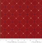 Skinny - SK1087- 1 1/8 yds - MODA FABRICS - Stars & Stripes Gathering - Red Lattice Stars