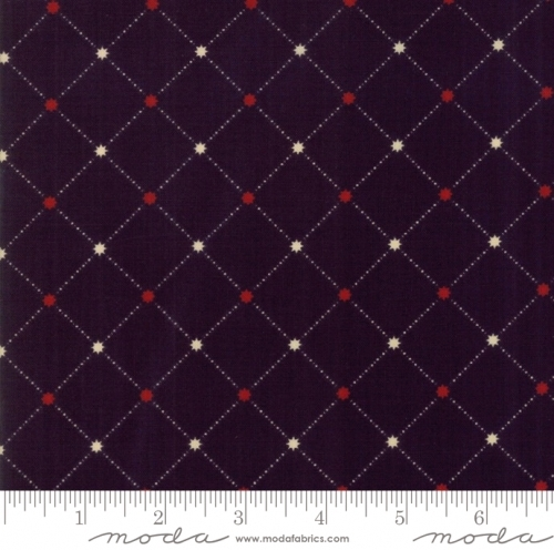 MODA FABRICS - Stars & Stripes Gathering - Black lattice Stars