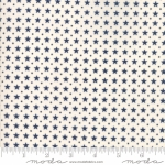 MODA FABRICS - Stars & Stripes Gathering - Cream/Blue Stars