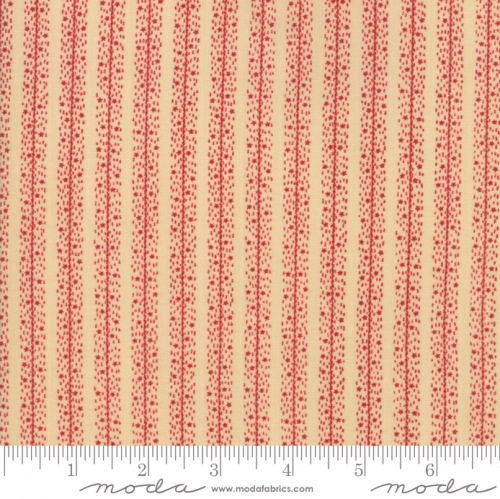 MODA FABRICS - Stars & Stripes Gathering - Beige/Red