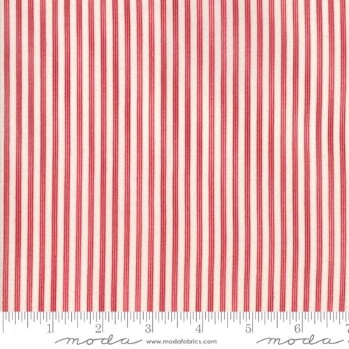 MODA FABRICS - Stars & Stripes Gathering - Beige/Red Stripe