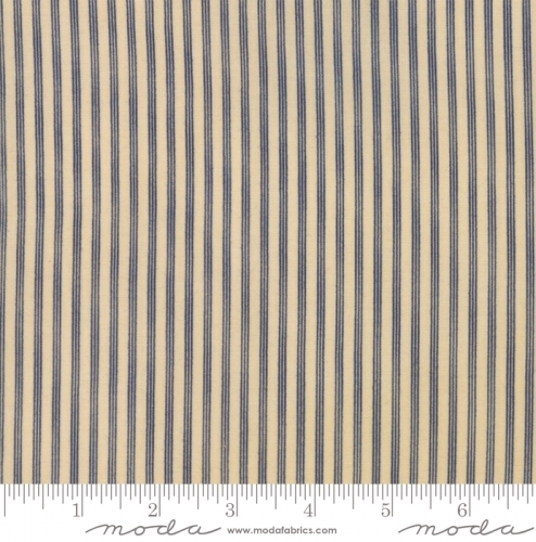 MODA FABRICS - Stars & Stripes Gathering - Tan/Navy Stripe