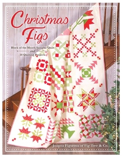 Christmas Figs Mini Charm Pack by Joanna Figueroa of Fig Tree Quilts; 42-2.5 Precut Fabric Quilt Squares United Notions 20310MC