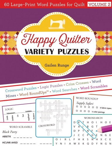 Happy Quilter Variety Puzzles Volume 2