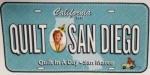 License Plate: Quilt San Diego