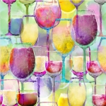 3 WISHES - Sip & Snip - Wine Glasses