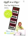 Pine Tree Table Runner: Eleanor Burns Signature Accuquilt Pattern