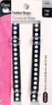 Dritz Fashion Strap - Bk/Wt Polka Dot - 3/8