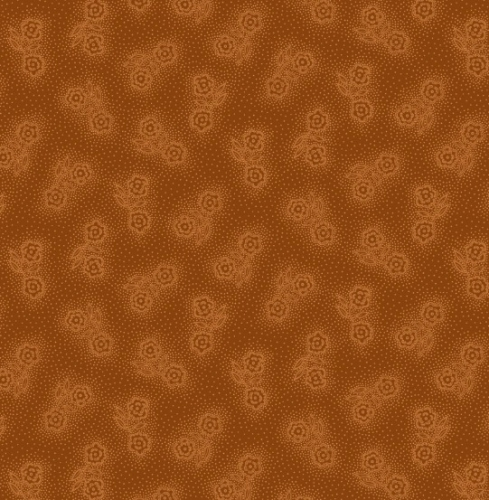 HENRY GLASS - Esthers Heirloom Shirtings - Orange Double Daises
