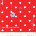 MODA FABRICS - Hey Dot My Polka Dot-Red