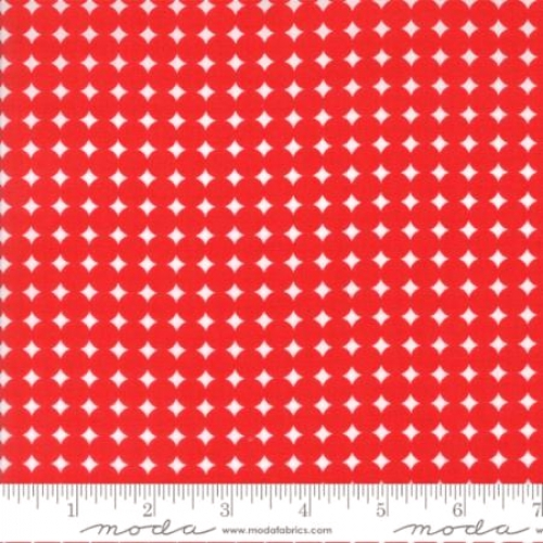 MODA FABRICS - Hey Dot Starry Dot- Red - #1379-