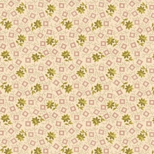 BENARTEX - Homestead Carriage - Blossom - Green/Cream