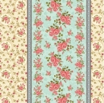 Skinny - SK1136- 1 1/2 yds - BENARTEX - Homestead Carriage - Border - Teal