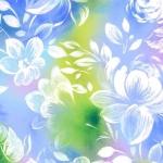 QUILTING TREASURES - Mimosa - Watercolor Floral - Blue