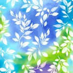 QUILTING TREASURES - Mimosa - Leaf - Blue/Multi