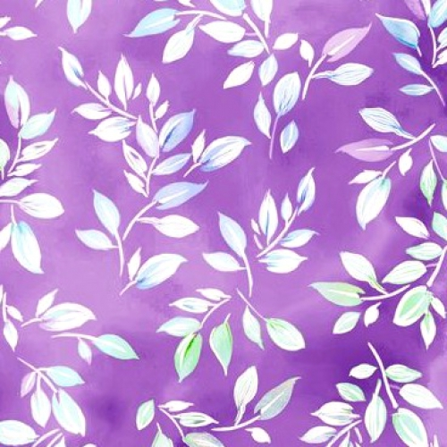 QUILTING TREASURES - Mimosa - Leaf - Lilac