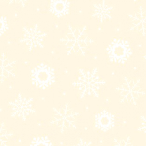QUILTING TREASURES - Quilting Illusions - Snowflake - Ecru/White - C88-