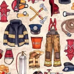 QUILTING TREASURES - 5 Alarm - Firefighter Equipment - Stone