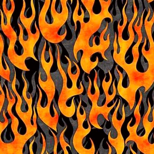 QUILTING TREASURES - 5 Alarm - Flames - Gray