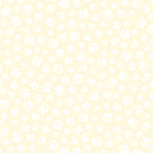 QUILTING TREASURES - Quilting Illusions - Paw Prints - Cream - C87-