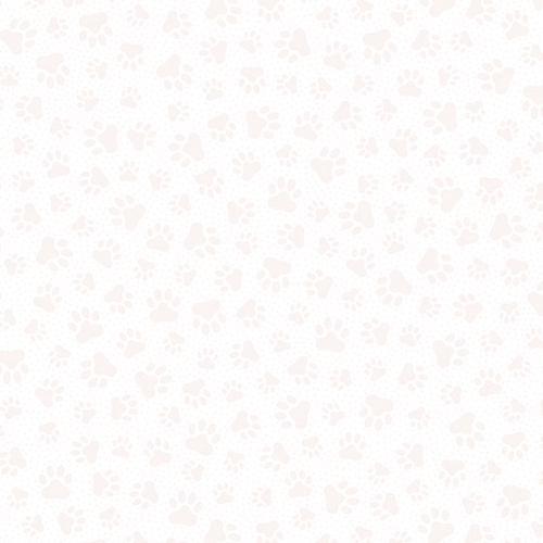 QUILTING TREASURES - Quilting Illusions - Paw Prints - White - W125-