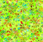 QUILTING TREASURES - Radiance - Stylized Floral Lime