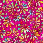 QUILTING TREASURES - Radiance - Stylized Floral Fuchsia