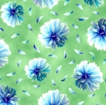 QUILTING TREASURES - Kenzie - Tossed Blooms Lime