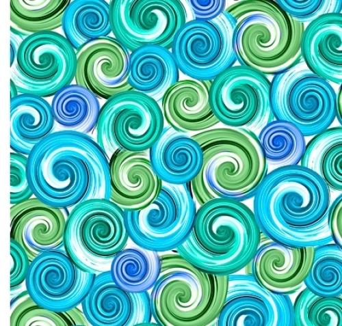 QUILTING TREASURES - Kenzie - Swirl Turquioise