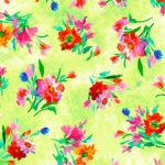 QUILTING TREASURES - Full Bloom - Spaced Floral - Lime